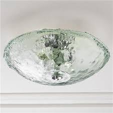 Beach House Light Fixtures by Recycled Bottle Glass Bowl Ceiling Light Faves Lighting Flush