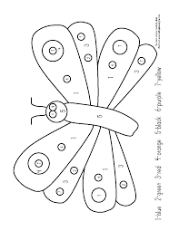very hungry caterpillar coloring pages printables nice pre k work