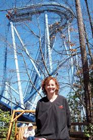 Dr  Lloyd Hey     s Blog  Hey Clinic for Scoliosis and Spine Surgery     Dr  Lloyd Hey s Blog   blogger Back to Life Story After Kyphosis Surgery for woman in her        s        s with Dr  Hey  and riding roller coasters pain free
