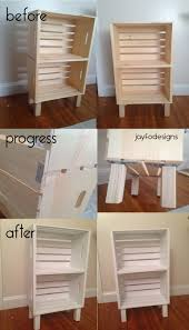 Wooden Crate Bookshelf Diy by Diy Bookcase Night Stand Or Storage Super Easy Crates From