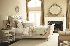 Vintage White Bedroom Furniture Dazzling Tufted Bed With Uphostered Headboard Design Ideas