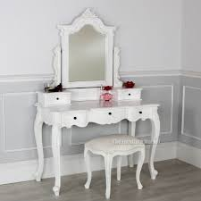 White Shabby Chic Dressing Table by French Chateau White Dressing Table Linen Set With Stool Castle