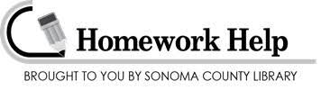 Homework Help at the Library   Sonoma County Library Sonoma County Library