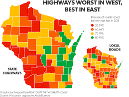 Wisconsin Weather Map by Maps Wisconsin U0027s Worst Best Highways