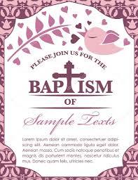 Card Invitation Baptism Card Invitation Bird And Pattern U2014 Stock Vector Pixejoo