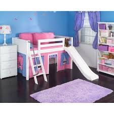 bedrooms for girls with bunk beds wow iii deluxe panel low loft tent bed with slide hayneedle