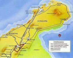 Mapa del complejo El Cerrejón