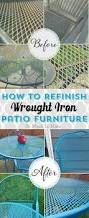 Painting Wicker Patio Furniture - how to refinish wrought iron patio furniture iron patio