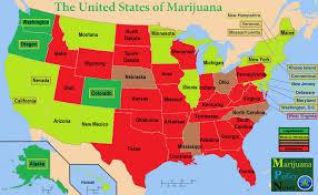 United States Map Delaware by The United States Of Marijuana Medical Marijuana