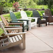 Polyethylene Patio Furniture by Polywood Classic Recycled Plastic 2 Ft Adirondack Outdoor Glider