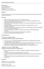 Sample Resume  Manager Nursing Resume Sales Sle Monster  Mr  Resume
