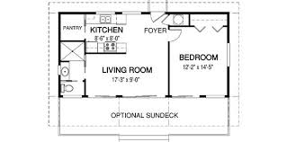 finch plan is a compact 1 level cabin plan with a separate bedroom