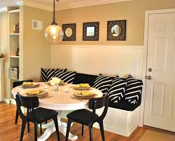 Dining Table With Banquette Interesting Banquette Dining Set White Wooden Banquette Seating