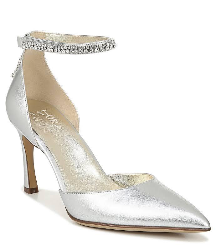 Naturalizer Alyssa Heels Silver- Womens