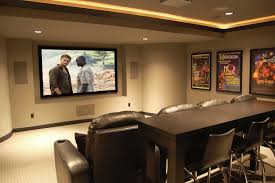Home Movie Theater Wall Decor Sweet False Ceiling Lights And White Plafond Over Great Leather