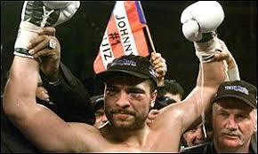 Johnny Ruiz celebrates his win over Evander Holyfield - _1201248_ruiz_win300