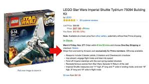 amazon black friday list star wars black friday deals exclusively for amazon prime members