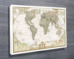 World Map Canvas by National Geographic Map Canvas Prints Australia