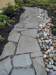 Best  Stone Landscaping Ideas On Pinterest Landscape Stone - Backyard river design