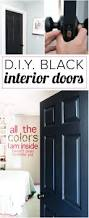 painting interior doors black high impact low update designer