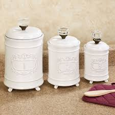 Kitchen Decorative Canisters White Ceramic Kitchen Canister Sets Floor Decoration