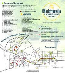 New Orleans Downtown Map by Charlottesville Area Maps Visit Charlottesville