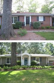Pictures Of A House Before U0026 After Painted Brick Ranch Style Home Brick Sherwin