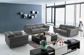 Grey Sofa And Loveseat Set Casa Perry Modern Grey Leather Sofa Set