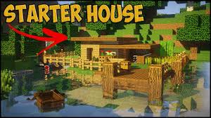 Small House Build Minecraft Starter House Tutorial How To Build A Small House In