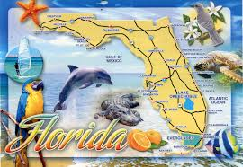 Destin Florida Map by Florida Map Remembering Letters And Postcards