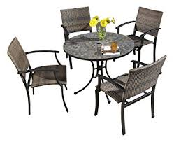 Outdoor Furniture Finish by Amazon Com Home Styles 5601 3081 Stone Harbor 5 Piece Outdoor