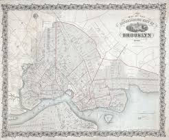 Street Map Of New York City by File 1863 Mccloskey Pocket Map Of Brooklyn New York