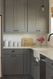 White Subway Tile Backsplash Ideas by Best 25 Gray Kitchen Cabinets Ideas Only On Pinterest Grey