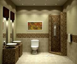 decorative basement bathroom design using mosaic tiles accents