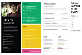Resume Sample Pdf by Landscape Resume Cv Template Resume Templates Creative Market
