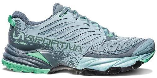 La Sportiva Akasha Trail Running Shoe Stone Blue/Jade Green 39.5 26Z-904704-39.5