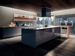 contemporary kitchen wooden island lacquered velvet