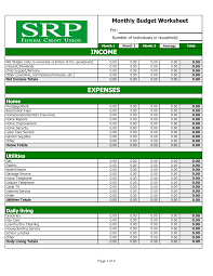 Sample Home Budget Spreadsheet Best Photos Of Home Budget Worksheet Home Budget Worksheets