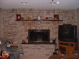 simple full brick wall fireplace makeover decor modern on cool