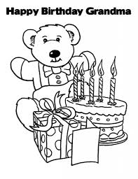 happy birthday coloring pages for grandma coloring pages birthday