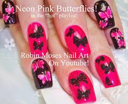 robin moses nail art easy neon pink summer nails up and perfect