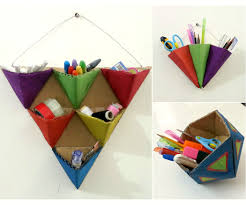 Desk Organization Accessories by Diy Triangle Organizers 5 Steps With Pictures