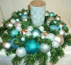 Christmas Tree Decorations Blue And Silver Simple Christmas Centerpieces Ouida Us