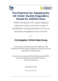 The Potential for Adapting the UK Water Quality Regulatory Model for ASEAN Cities   Further development     SlideShare