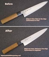 japanese knife sharpening blog blade thinning service