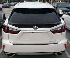 lexus rx 350 price oman 2015 2016 lexus rx350 tesoro rear trunk lip spoiler unpainted ebay