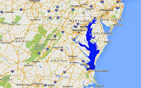 Virginia Tech Map Maps Of The Chesapeake Bay Rivers And Access Points