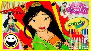 disney princess mulan crayola color by number princess