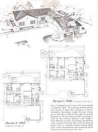 vintage house plans 1960s homes mid century bright floor plan for