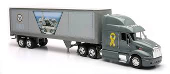 kenworth truck models amazon com newray peterbilt us navy truck diecast 1 32 scale toy